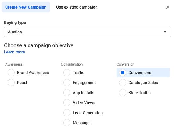 Conversion Campaign Objective