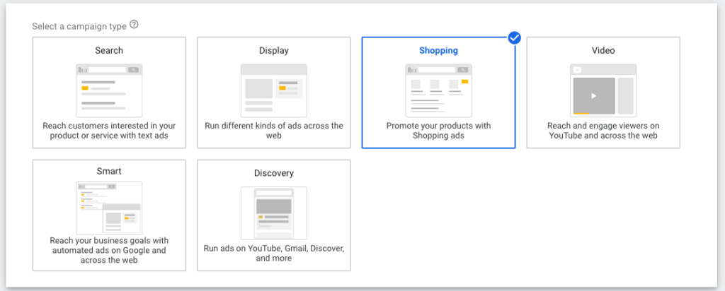 Google Shopping Standard Campaign Type