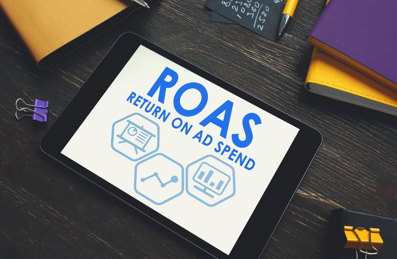 A ROAS formula to find out what the your facebook ads cost